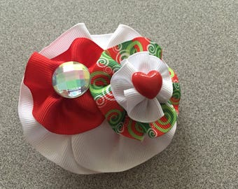 Round Hair Bow with Fashion Accesories