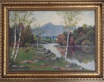 Vintage Mt. Chocorua, NH Oil Painting, EW Urfer