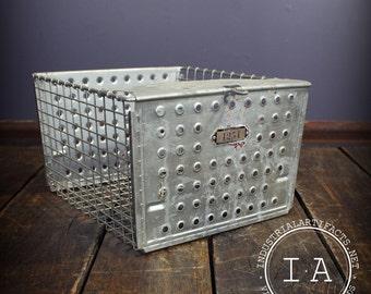 Vintage Industrial Metal Wire Frame Gym Basket The Washburn Company