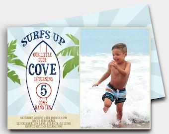 Surfing Birthday Invitation | Surfer Birthday Invitation | Beach Birthday Invitation | Pool Party Invitation | Summer Birthday | Surfs Up