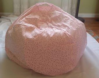Girls Bean Bag Chair with Dots Design