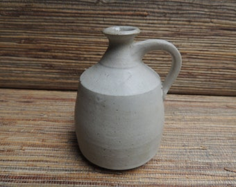 Matte White Small Handmade Pottery Vase by Hannah