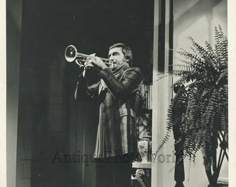 Jazz trumpet player Doc Severinsen vintage music photo