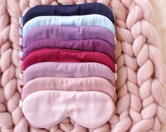 Satin Sleep Mask / Blush Sleep Mask / Polka Dot Sleeping Mask / Lavender Sleeping Mask / Blue Sleep Mask / Satin Eye Mask / Travel Mask