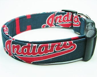 Cleveland Indians Baseball Dog Collar
