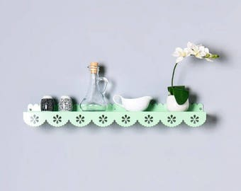 Wall shelf, Shelf Decor, metal shelf, Floating shelf, display shelf, Kids shelves, Kids room decor, storage shelf, lace shelf