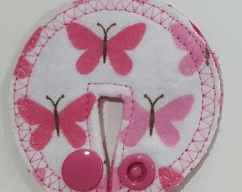 G-tube pad. Flannel cotton top. Butterflies.