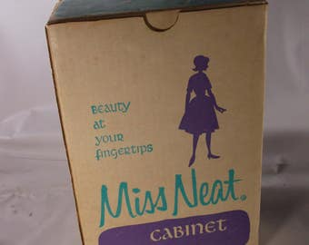 Vintage Akro-Mils Miss Neat Plastic Storage Cabinet w/Drawers Mid Century Vintage New Old Stock . epsteam