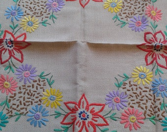 A Pair of Beautiful Hand Embroidered Vintage Cushion Covers