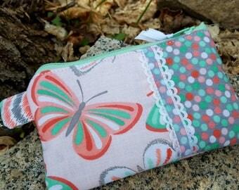 Butterfly Coin Purse, Girls Zipper Wallet, Butterfly Change Purse