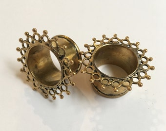 "Handmade Intricate Brass Tunnels {16mm or 5/8""}"