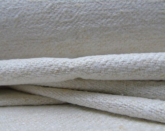 Grain Sack Fabric by the Yard Upholstering fabric Runner Vintage linen roll hemp linen roll wedding decor
