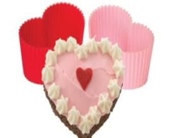 Silicone Heart Cupcake Molds