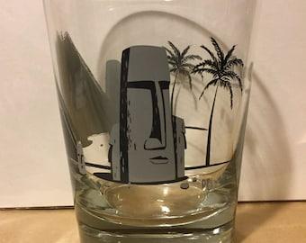 Moai Tai Creepy Tiki Glass