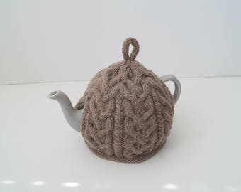 Knitted Tea Cozy Camel Brown - NESTON