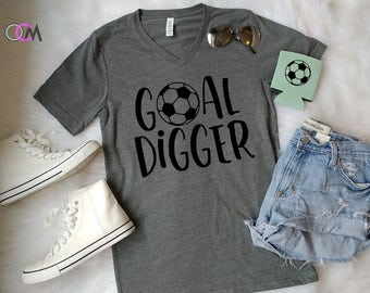 Goal Digger Shirt, Soccer Goal Digger, Soccer Mom Shirt, Proud Soccer Mom, Shirts for Soccer Moms, Custom Soccer Shirts, Soccer Mama Shirt
