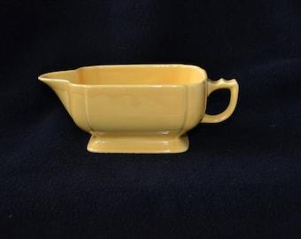 Vintage Ceramic Gravy Boat - Coastal Yellow