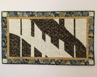 Art Quilt, Quilted Wall Hanging, Modern Art Quilt, Wall Hanging, Fiber Art, Handmade Quilt, Contemporary Quilt, piano quilt