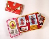 CLEARANCE: Mexican Religious Wallet Amulet - Mexican Xmas Stocking Stuffer - Mexican Party Favor Small Gift