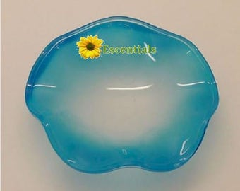 Blue Fluted Oil Warmer Replacement Dish