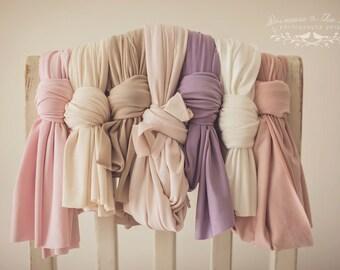 Pastel Dream Stretch Wrap, Photography Prop, Newborn Stretch Wrap, Photo Prop, Stretch Newborn Wrap, Pink Beige Cream Lavender Mink Wrap