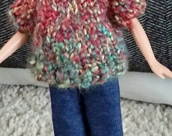 Sweater and jeans set for 9 inch doll