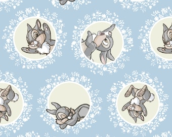 Camelot Bambi and Friends Thumper in Blue Fabric