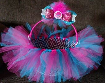 POPPY TROLLS Hot Pink & Blue TUTU Easter Basket - use as a bow holder, catch all basket. Can be made in any color or pattern.