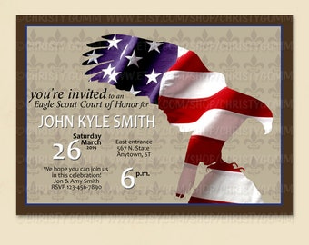 Eagle Scout Court of Honor Invitation Card - 16071