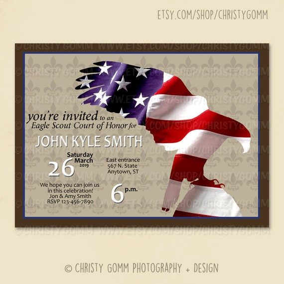 Eagle Scout Court of Honor Invitation Card 16071 – Eagle Scout Invitation Cards