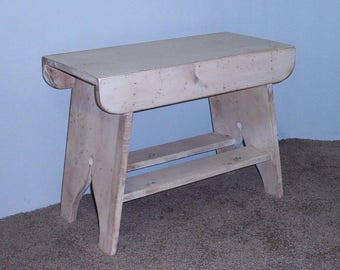 "Handmade Splay Leg Primitive Bench - 48"" Long  - Your Choice of Color - A GREAT PORCH BENCH!"