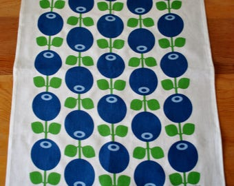Swedish Blueberries Tea Towel Modern