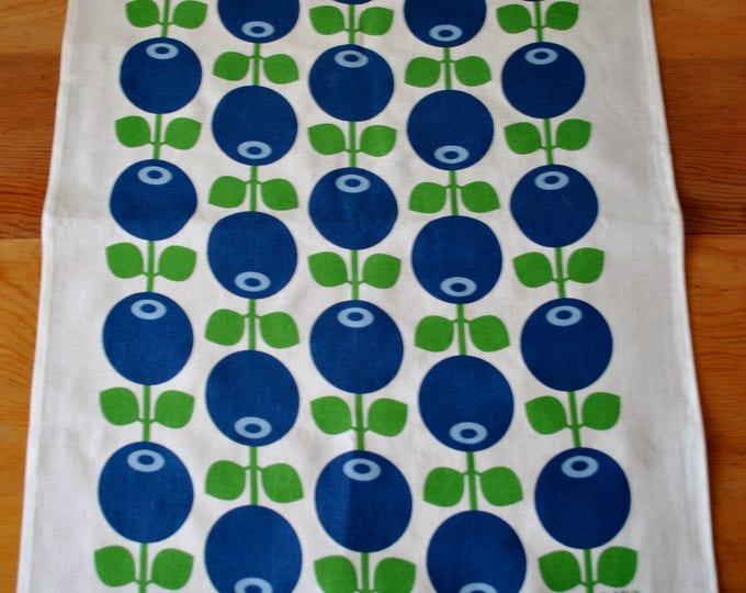 Swedish Modern Blueberries Tea Towel