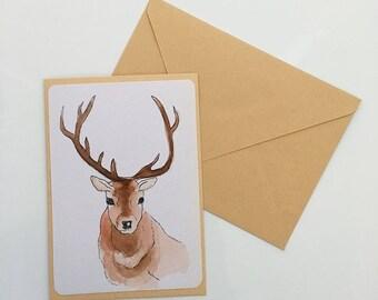 Deer Card (Blank)