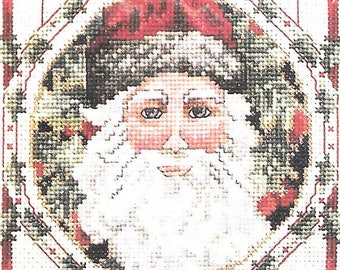 Janlynn Christmas Cross Stitch Kit Father Christmas Bell Pull New In Package Counted Cross Stitch Design Rare Out of Print Donna Giampa