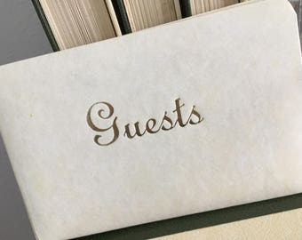 Guest book, vintage guestbook