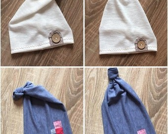 ON SALE!!! Newborn baby stretch hat, Elf hat, hat, newborn hat, photo prop, Button hat