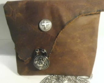 Horween Leather  Cross Body/ chain Bag/ Horween  Leather Purse