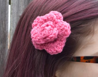 Crochet Hair Flower