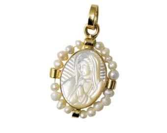 Virgin Mary Pendant/Pearl Pendant/ Virgin Mary/ Virgin Mary