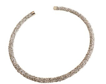 Crystal Choker/ For Her/ Rigid/ Easy to Wear