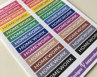 A55 - Homework - Planner Stickers