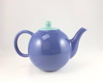Pâle théière bleue, cruche, bleu, thé, café