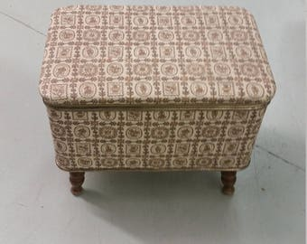 Redmon Sewing Box or Footed Hamper/Storage Box or Vanity Chair Collectible Home Decor