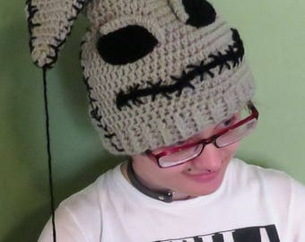 Crochet Nightmare Before Christmas Inspired Oogie Boogie Hat teen/adult size. This is complete and ready to ship