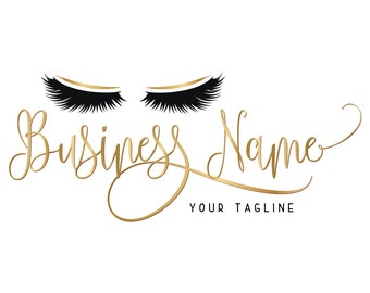Custom logo design , lashes logo, eye lashes beauty logo, makeup logo, gold lashes logo design, gold beauty logo,  graphic design lashes