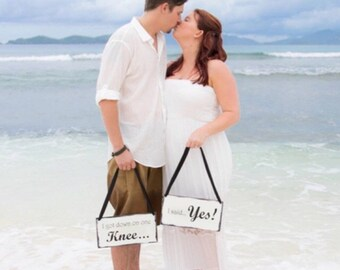 Engagement Proposal Sign Photo Props | Marriage Proposal Props | He asked She Said Yes signs | Will You Marry Me | Castle Inn Designs