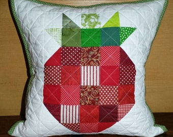 Strawberry quilted cushion cover