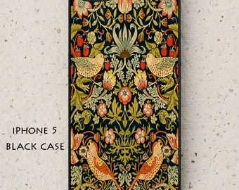 iPhone Cover(all models) - Mobile - William Morris Illustration - Strawberry Thief - Galaxy S3 S4 S5 mini S6 S7,LG,HTC,Sony & more