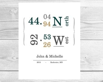 Latitude Longitude HOME printable artwork design 2